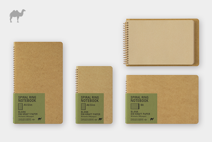 ラクダが旅をする砂漠のようなクラフト紙のノートです。
