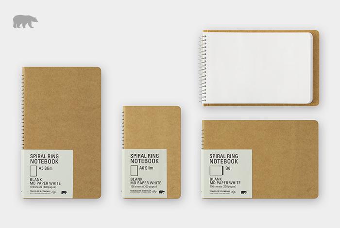 筆記性を追求したオリジナルの筆記用紙、MD用紙を使用したノートです。