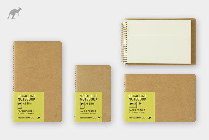 すべてのページが紙のポケットのノートです。