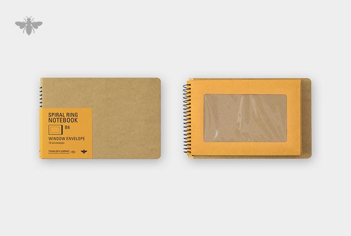 すべてのページが窓付封筒のノートです。
