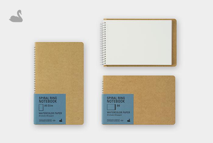 水に強く発色の良い水彩紙を使用したノートです。