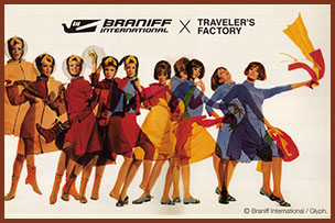 BRANIFF INTERNATIONAL × TRAVELER'S FACTORY
