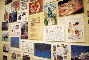 ポストカードキャンペーン2014中目黒の2Fで展示中