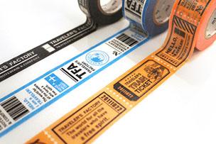 マスキングテープ トレインチケット柄
