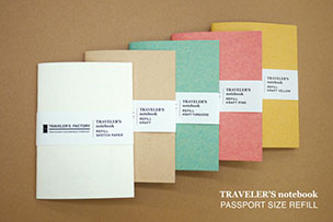 トラベラーズファクトリー オリジナル トラベラーズノート パスポートサイズリフィル 【10月26日発売】