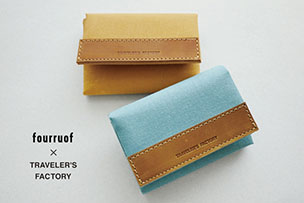fourruof × TRAVELER'S FACTORY ミニウォレット