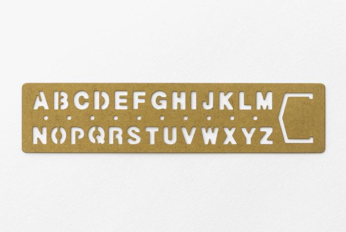 brass template bookmark alphabet ブラス テンプレートブックマーク