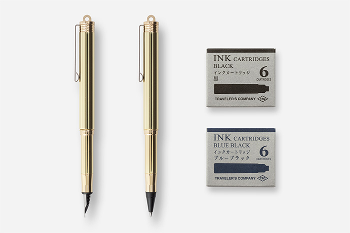 万年筆とローラーボールペンのインクカートリッジ交換方法