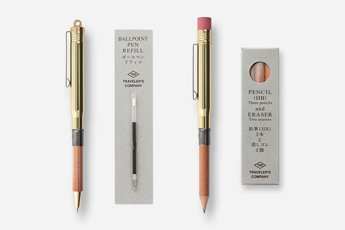 ボールペンとペンシルのリフィルの交換方法